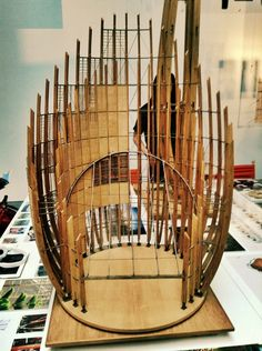 3è extension* Models - Tjibaou Center, Renzo Piano Architects