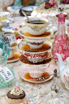 Alice in Wonderland Tea Cups at a Party