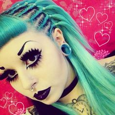 #Goth girl hair and make-up