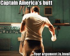 Captain America's butt