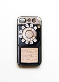Vintage payphone iPhone case. #onlineshopping #iPhone #blisslist Buy it on BlissList: https://itunes.apple.com/us/app/blisslist-easy-shopping-gifting/id667837070