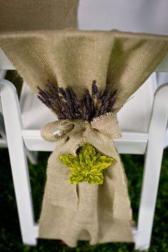 babies breath, chair covers, curtain tie backs, chairs, wedding ideas, chair sashes, burlap curtains, chair decorations, lavend chair