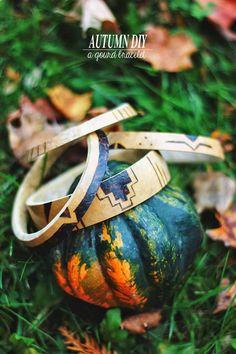 Poppytalk: An Autumn DIY   A Gourd Bracelet