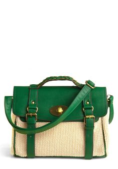 briefcase bag...I have a love affair with emerald green