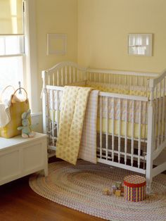 Nice soft yellow in this classic nursery.