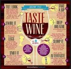 Best Wine Tasting Guide we've seen yet! #winelovers #winewednesday #cheers