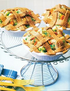 Chicken Pot Pie ... Ha, fooled you! It's cake. From Cupcakes, Cookies & Pie, Oh, My! cookbook by Karen Tack and Alan Richardson, p.37