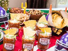Served in small mason jars, @Cristina Ferrare's Kick Butt Chili is perfect for your party guests! #HomeandFamilyTV