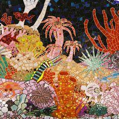 mosiac, gaudi submarin, granni cottag, mosaics, art, glass, antonio gaudi, cottages, submarin bathroom