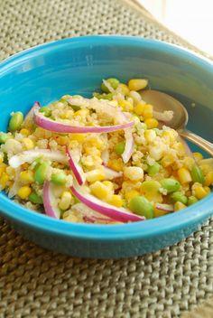 Edamame, Corn and Quinoa Salad