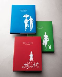Three Etiquette Books by Kate Spade New York-because we can all brush up on our manners!    #etiquette #books #gift #horchow #manners