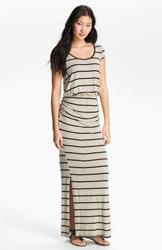 Everleigh Side Ruched Stripe Maxi Dress available at #Nordstrom