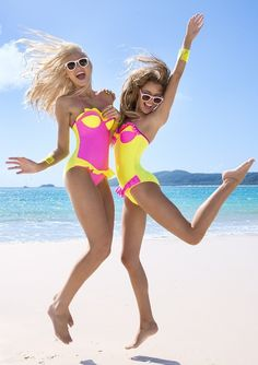 Pink & Yellow One-Piece Suits