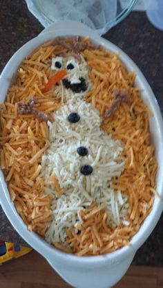 Frozen party food. Olaf 7 layer taco dip