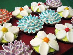 marshmallow flower cupckes