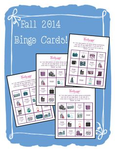 NEW Fall 2014 Thirty-One Bingo Cards