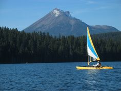 Yaksail on Lake of the Woods, west of Klamath Falls, OR    Baby, I'm ready to go camping.