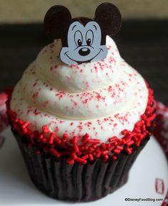 Red Velvet Cupcake at Contempo Cafe, Contemporary Resort, Disney World, Orlando, Florida #Disney #DisneyWorld #WDW #WaltDisneyWorld #ThemeParkFood #Cupcakes