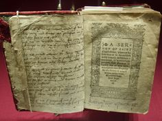 Book that belonged to Katherine Parr, with her signature on the bottom right side.
