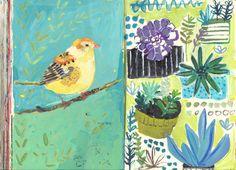 bird, art journals, sketchbook