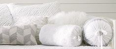 West Elm white pillows