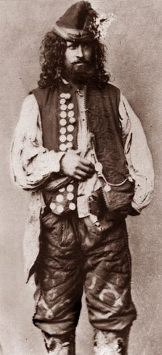 "A Kalderari Romani Gypsy man. 1865. A photo from J.Ficowsky's book ""Gypsies in Poland""."