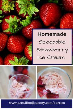 strawberri ice, real foods