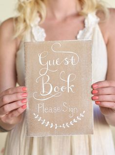 Wedding Guest Book Bridal Shower Guest Book Rustic Chic Wedding NEW 2014 Design by Morgann Hill Designs