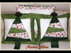 Almofada da árvore em patchwork - Patchwork Maria Adna - Aula de almofa...