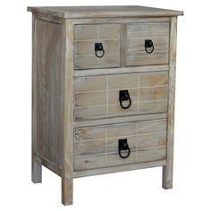 Showcasing 4 doors and a washed finish, this wood cabinet adds a rustic touch to your decor. Use it to stow out-the-door essentials in your entryway or let i...