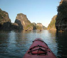 Kayaking in Halong Bay, Vietnam - Photo taken by BradJill