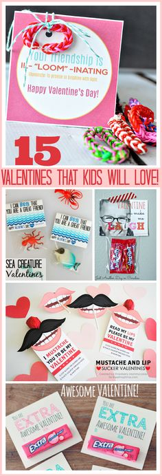 15 Valentines that kids will love! So many cute ideas!  #Valentine #gifts