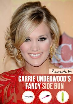 bridesmaids, carrie underwood updos, hair style, beauti, hair trends, carry underwood hair, carrie underwood hair updo, bang, bridesmaid hairstyles