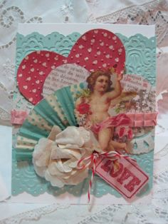 Valentine card from Victorian scrap