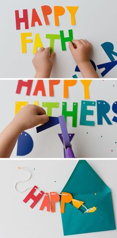Happy Father's Day Banner from @Stephanie Close Close Close Francis :: Modern Parents Messy Kids | Father's Day Celebration
