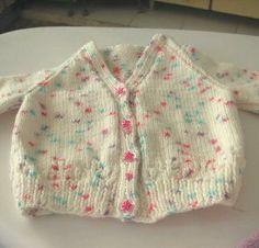 Funfetti Baby Cardigan | AllFreeKnitting.com