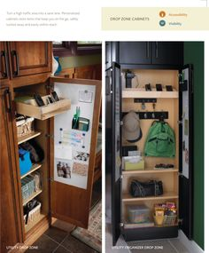 Kitchen drop zone on pinterest drop zone charging for Kitchen cabinets 4 less