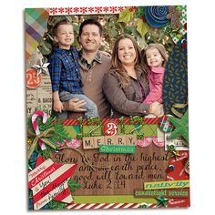 A Christmas Tradition by Jenn Barrette and Val Wibbens  A Month of Memories: Collection by Jenn Barrette  Kitschy Christmas by Jenn Barrette and Sahlin Studio  Kitschy Christmas Daily December Add-on by Jenn Barrette  Fonts:  DJB Fonts: I Love Me Some Brook Font (Euro) by Darcy Baldwin  DJB Fonts: Dear Mrs Claus by Darcy Baldwin