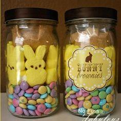 Brownie Bunnies in a Jar