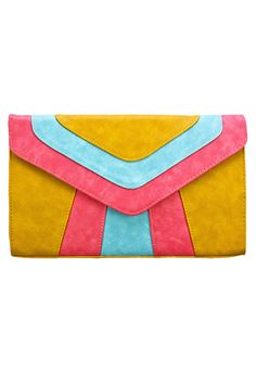 Color Blocked Clutch.