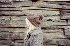 Womens Hand Knitted Pompon Beret Beige by LoveandKnit on Etsy, $35.00