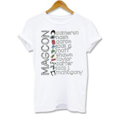 shirt Screenprint T shirt Magcon boys collage name by Kaosan, $15.56