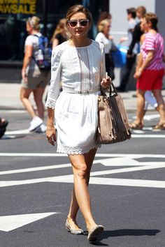 Get inspired by the way these celebs keep chic in the heat.