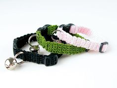 kitty cats, kitti cat, cat collars, crochet cat, collar pattern