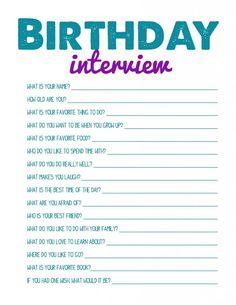 Kids Birthday Interview.