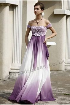 Sexy White and Purple Wedding Dress - http://casualweddingdresses.net/purple-wedding-dress-go-purplish-on-your-wedding-day-on-a-purple-wedding-dress/