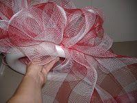 mesh wreath tutorial