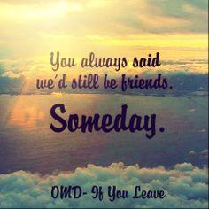 if you leave omd lyrics: