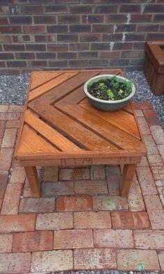 Pallet wood outside table