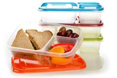 EasyLunchboxes 3-compartment Bento Lunch Box Containers (Set of 4) BPA-Free. Easy-Open Lids (Not Leakproof): Amazon.com: Home & Kitchen